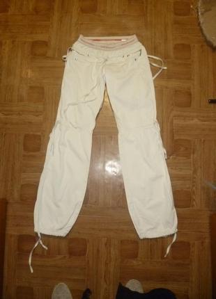 Удобные коттоновые штаны-сафари пояс резинка (джинсы),весна-лето