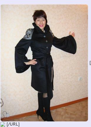 Raslov пальто кашемировое,  100% шерсть,  эполеты
