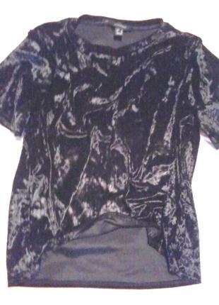 Велюровая c переливом футболка от atmosphere размер на 48-50