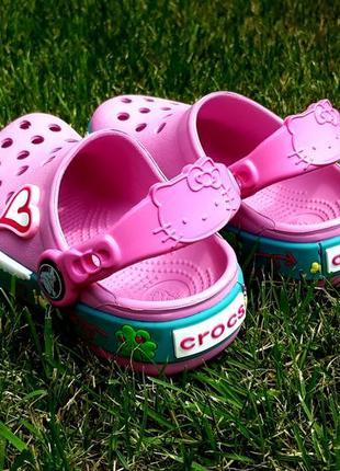 Сабо crocs hello kitty2 фото