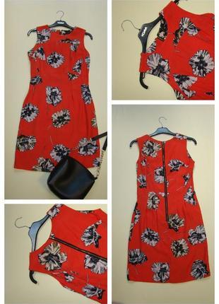 Яркое вискозное платье в цветочный принт dorothy perkins s-m