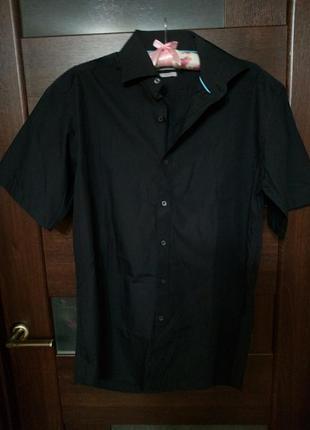 Рубашка с коротким рукавом новая angelo litriko