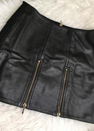 Шкіряна спідниця кожаная юбка