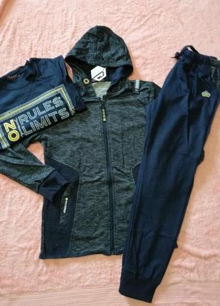 Стильный спортивный костюм тройка для мальчиков 152-164