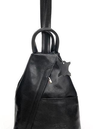 "Женский кожаный рюкзак ""borse in pelle"" италия!"