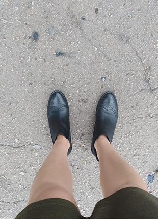 Кожанные ботинки челси  paul green
