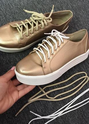 Стильные кожаные кеды,кроссовки,размер 38