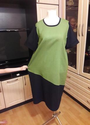 Шикарное льняное платье3 фото