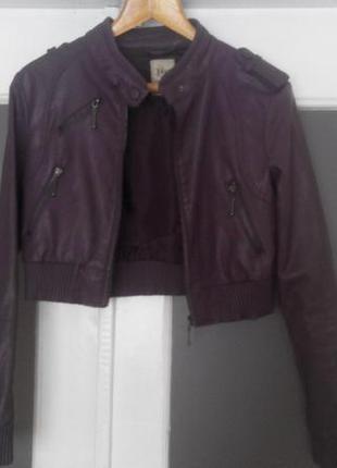 Куртка- кожанка pull&bear