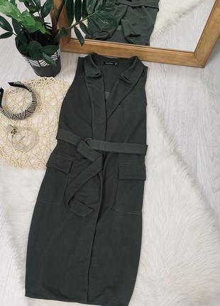 Плаття кольору хакі на запах з кільцем від boohoo🖤🖤🖤