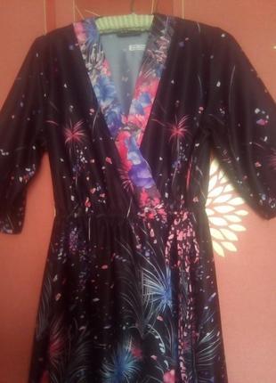 Шикарный халат на запах 48-50 размер англия (bridget elisabeth)