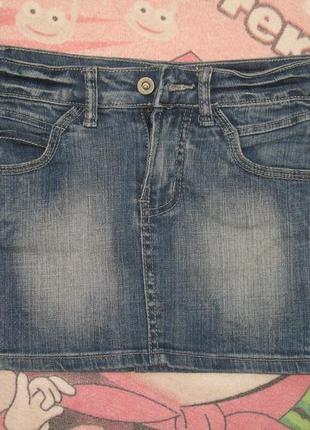 Классная джинсовая юбочка на 10-11 лет