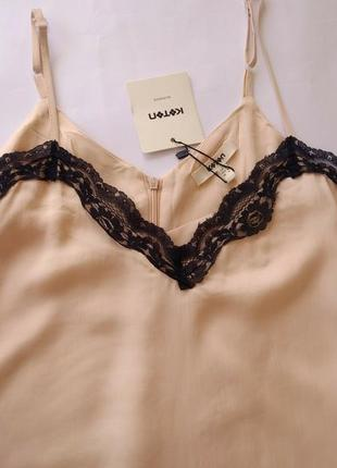 Новое с этикеткой стильное платье-комбинация нежно пудрового цвета6 фото