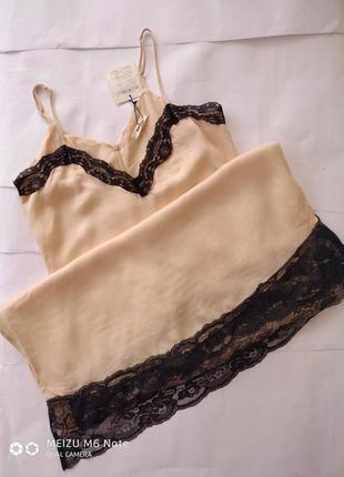Новое с этикеткой стильное платье-комбинация нежно пудрового цвета8 фото