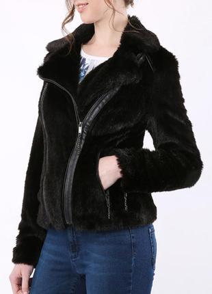 Меховая куртка косуха шуба полушубок marc cain p.l-xl