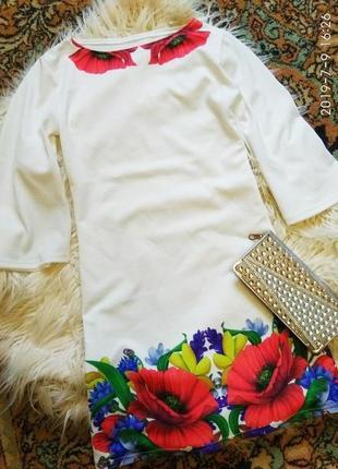 Шикарное платье с огромными маками