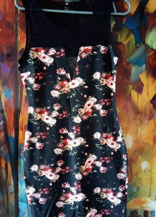 Сексуальне плаття із сіточкою на грудях від h&m