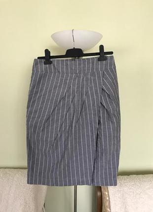 Классическая юбка в полосочку с переходом