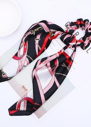 Резинка для волос с длинным платком. резинка-платок