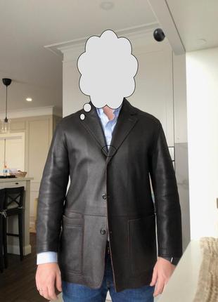 Кожаная куртка ermenegildo zegna (оригинал)