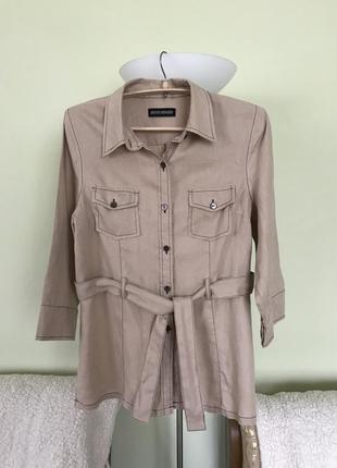 Льняная летняя рубашка-сафари bernd  berger
