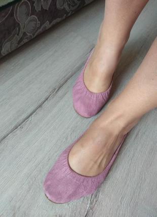Балетки мокасины тапочки пудрового цвета розовые размер 37