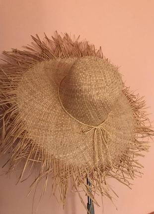 Соломенная шляпа с широкими полями4 фото