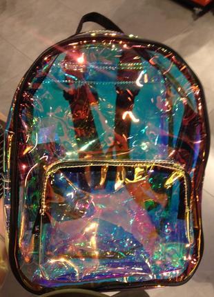 Прозрачный рюкзак портфель новый!