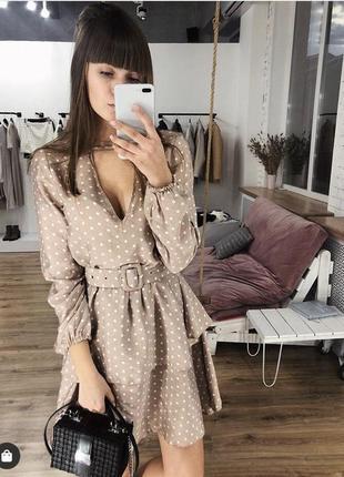Абсолютно новое платье в горох бренда one by one