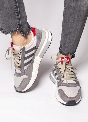 Супер удобные кроссовки adidas zx в сером цвете (весна-лето-осень)😍