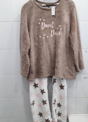 Шикарная теплая мягкая пижама кофта+штаны1 фото
