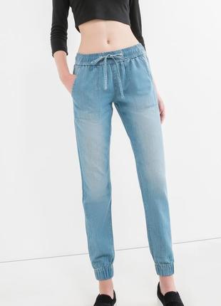 Новые классные легкие джоггеры под джинс ovs италия / брюки mom