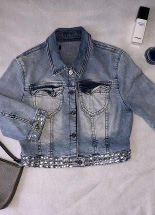 Black orchio джинсовая куртка со стразами❗️❗️❗️ скидка 10% ❗️❗️❗️