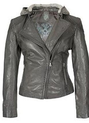 Шикарная фирменная кожаная куртка gipsy на размер м