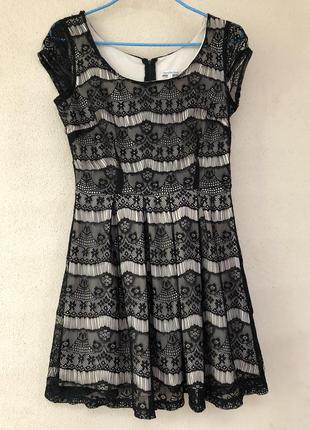 Гипюровое платье с юбкой-полусолнце