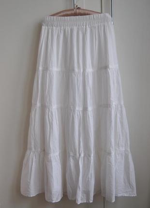 Хлопковая юбка в пол макси / спідниця максі