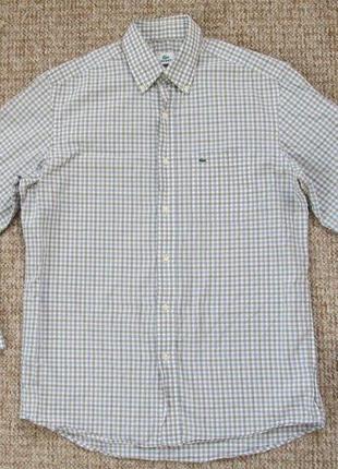 Lacoste рубашка оригинал (l) сост.идеал