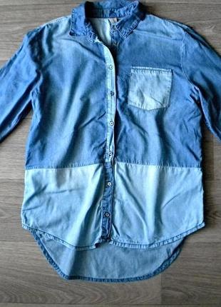 Интересная джинсовая рубашка