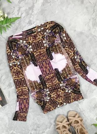 Модная блуза с принтом большого города  bl1928014 motivi