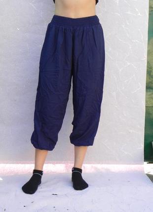 Штаны бриджи капри летние легкие широкие на резинках внизу marks&spencer