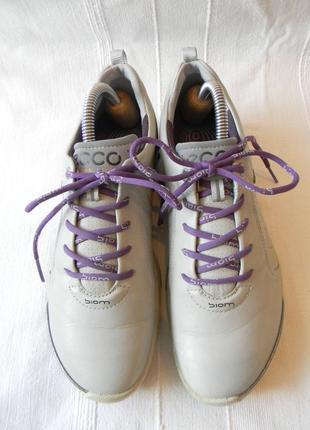 Кожаные кроссовки для гольфа ecco biom natural motion hydro max р.37