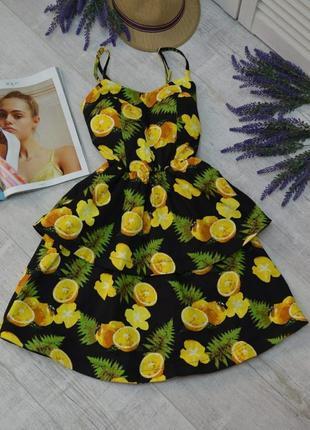 Шикарный летний сарафан с лимонами