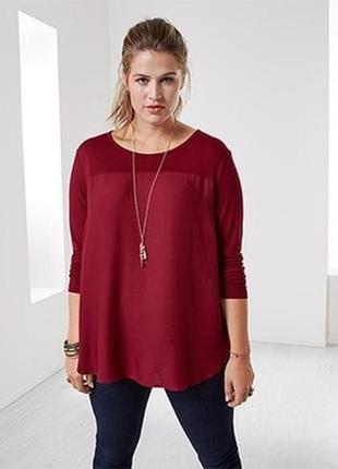 Вискозная бордовая блуза  tcm tcibo, германия