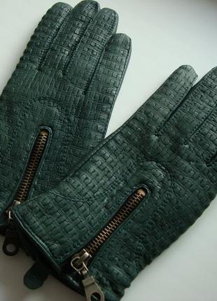 Фірмові шкіряні рукавички vera pelle