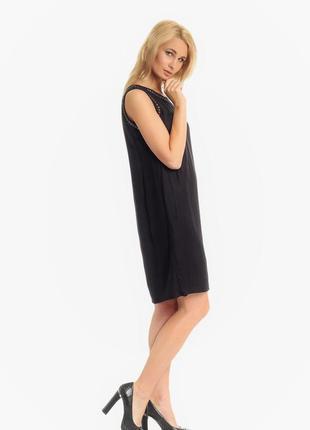 Летнее коктейльное вечернее маленькое черное платье c'est beau la vie франция