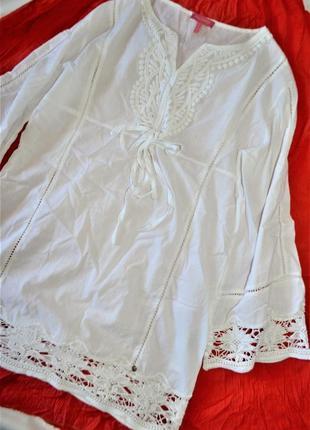 Phard трендовая блуза набивное кружево