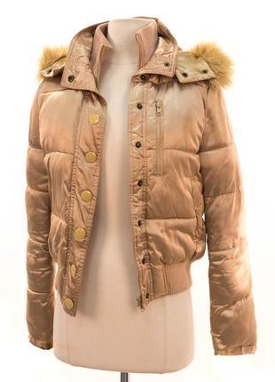 Обалденнная золотая дутая куртка бомбер