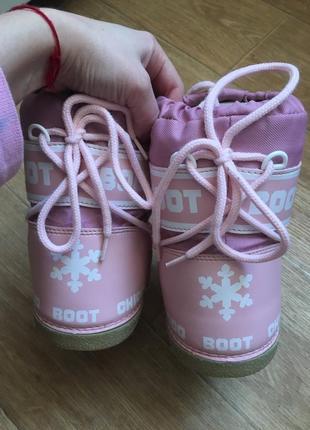 Луноходы снегоходы зимние сапоги дутики chicco boot moon boot