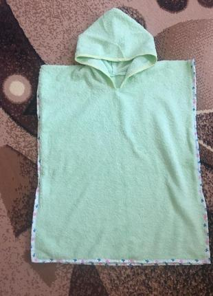 Детское махровое полотенце-пончо