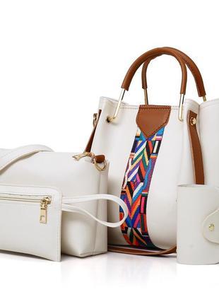 Набор сумка+сумка ч/з плечо+чехол для ключей